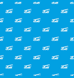 truck mounted crane pattern seamless blue vector image vector image