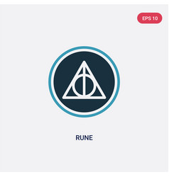 Two color rune icon from miscellaneous concept vector