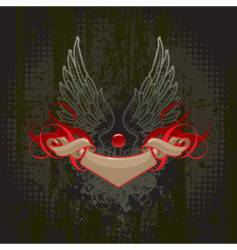 Wings and banner vector