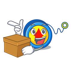 with box yoyo character cartoon style vector image