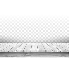 wooden gray table top with aged surface realistic vector image