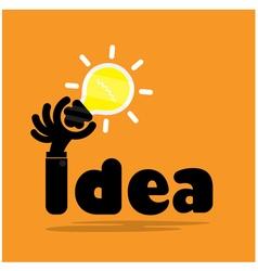 Creative bulb light ideaflat design vector image vector image