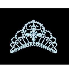feminine wedding diadem crown on black vector image vector image