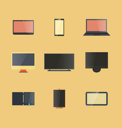 icons digital devices with display vector image