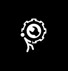 Maintenance and repair services icon flat design vector