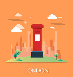 red post office in london design vector image vector image