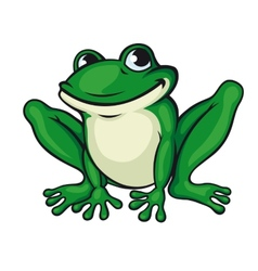 Big green frog vector image vector image