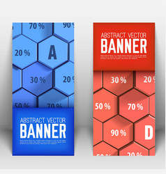 Business abstract geometric vertical banners vector