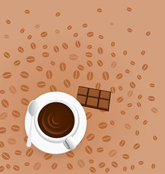 coffee with chocolate vector image vector image