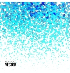 Halftone Colorful Blue Lights Falling Dots pattern vector image