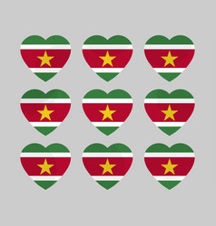 heart with the flag of suriname i love suriname vector image