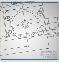 Mechanical engineering drawing blue and gray vector