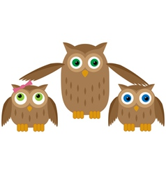 Mom Owl vector image