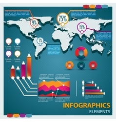 Premium infographics master collection vector image vector image