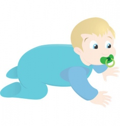 toddler vector image