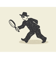 detective vector image vector image