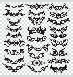 tribal tattoo set design element vector image