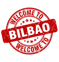 welcome to bilbao vector image vector image