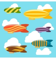 Airships background vector