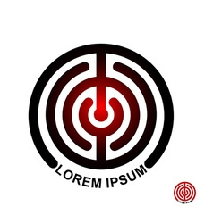 Circle in terms of logo Maze emblem Labyrinth vector image vector image