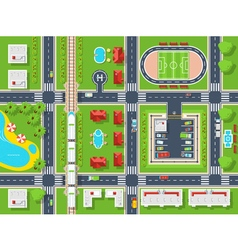 City Map Top view vector image