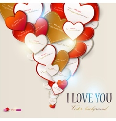 elegant background with hearts valentines day vector image