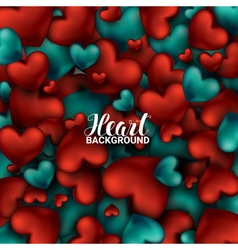 Red and turquoise heart Valentines day card Love vector image vector image