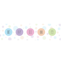 5 questionnaire icons vector