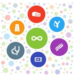 7 strip icons vector