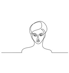 Abstract portrait closeup of pretty young woman vector