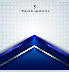 abstract technology concept blue metallic angle vector image