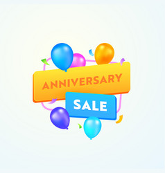 Anniversary sale advertising banner with vector