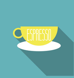 authentic italian espresso vintage coffee poster vector image