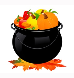 Autumn cauldron vector image
