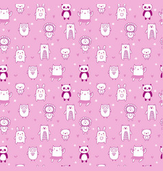 Background for cute little girls hand drawn vector