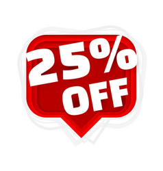 Banner 25 off with share discount percentage vector