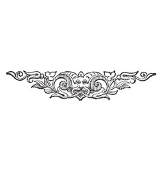 Beast tailpiece is a fully decorative design vector