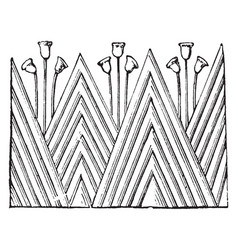 capital ornament in the temple at edfu egyptian vector image