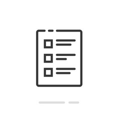 checklist icon line outline art document vector image