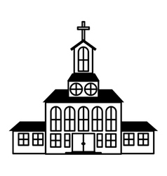 Church building icon vector