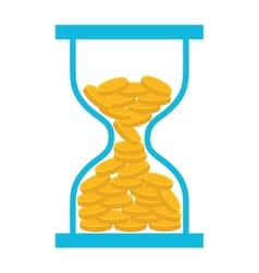 Coin dollar hourglass money icon vector