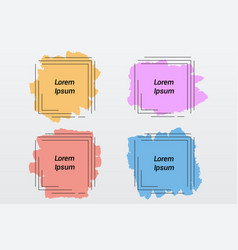 color pastel brush stain frames of square vector image