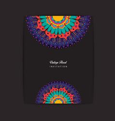 colorful mandala invitation design vector image