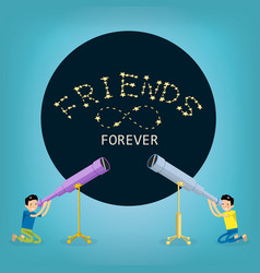 Concept of happy friendship day flat design vector
