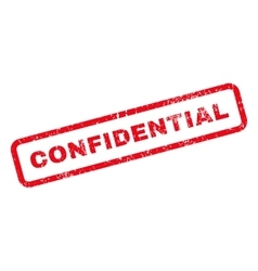 Confidential Text Rubber Stamp vector image