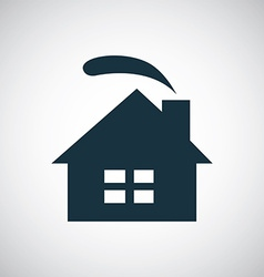 cozy home icon vector image