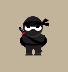 Cute ninja character vector