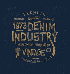denim industry vector image