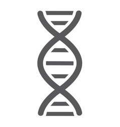 Dna glyph icon chromosome and biology genetic vector