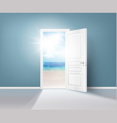 Doors nature realistic composition vector